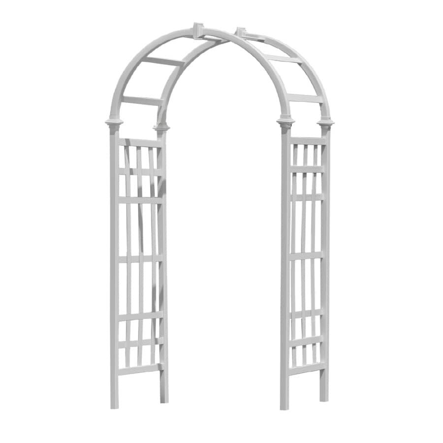 New England Arbors 45-in W x 89-in H White Vinyl Arched Garden Arbor