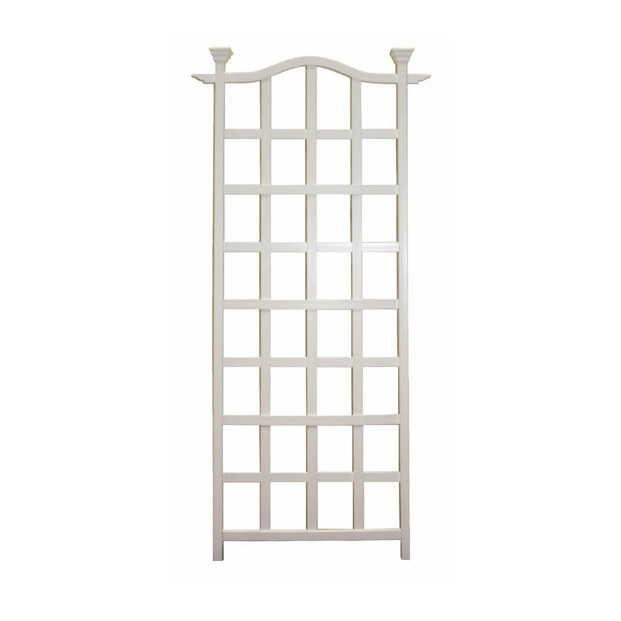 New England Arbors 30-in W x 78-in H White Garden Trellis