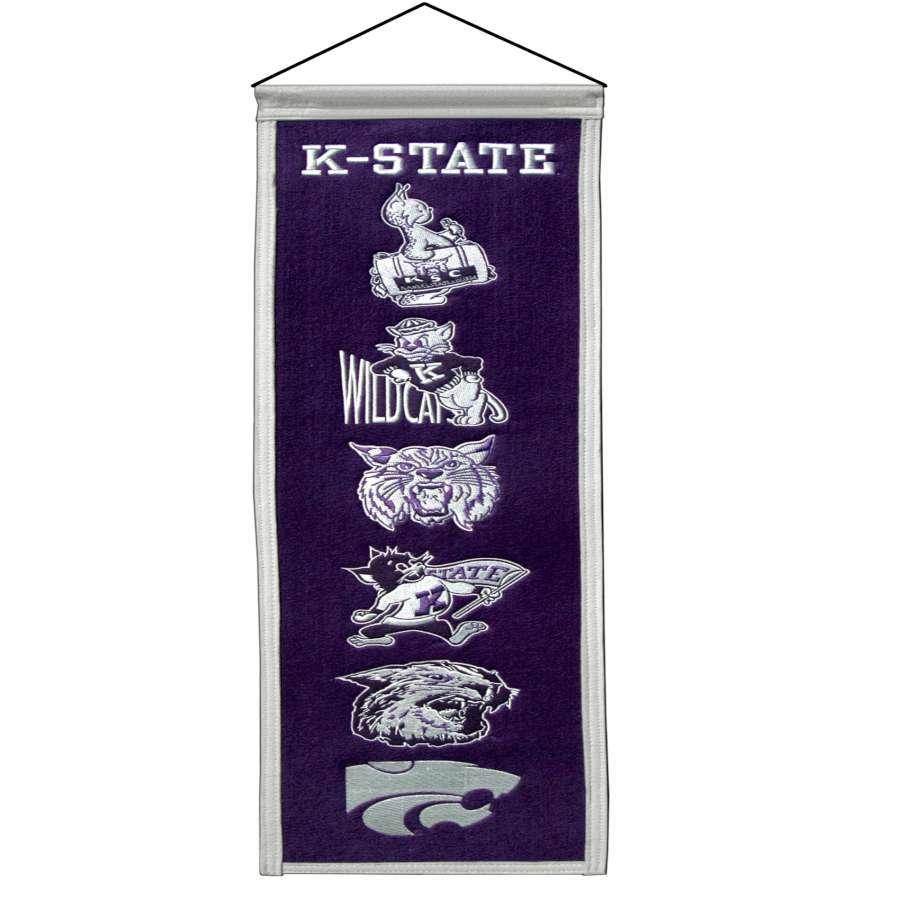Winning Streak 0.66-ft W x 2.66-ft H Embroidered Kansas State Wildcats Banner