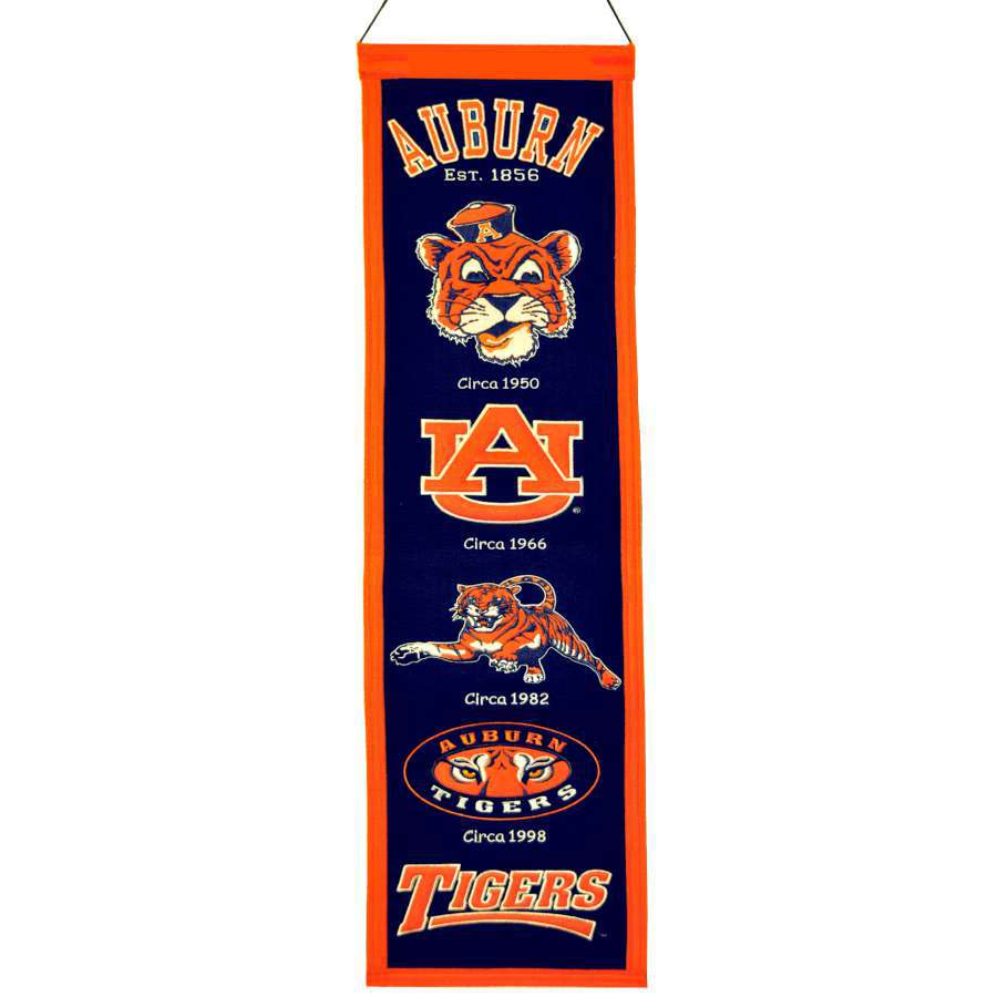 Winning Streak 0.66-ft W x 2.66-ft H Embroidered Auburn Tigers Banner