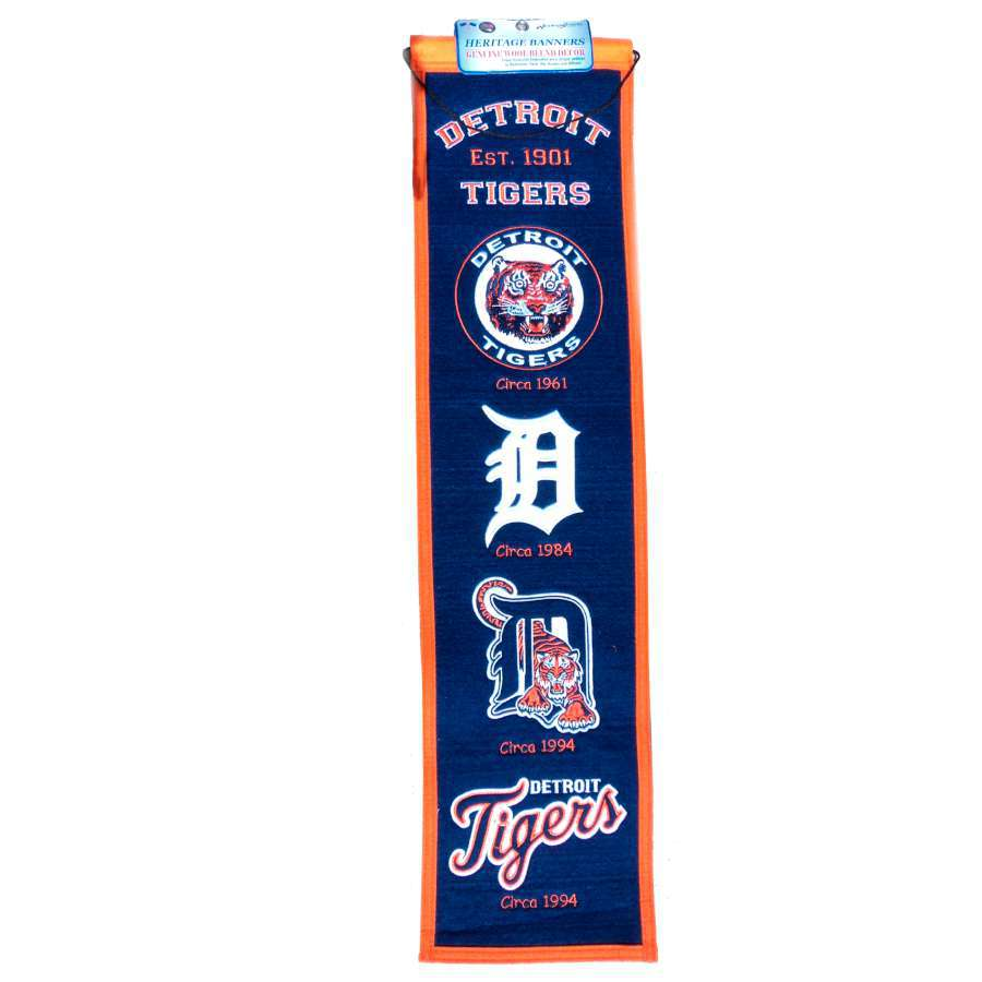 Winning Streak 0.66-ft W x 2.66-ft H Embroidered Detroit Tigers Banner