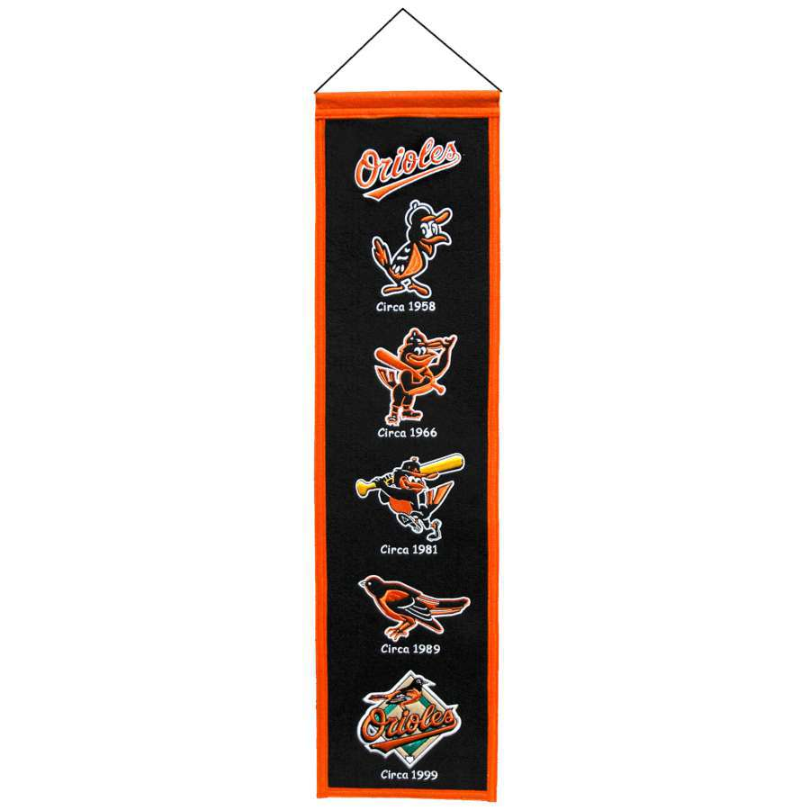 Winning Streak 0.66-ft W x 2.66-ft H Embroidered Baltimore Orioles Banner