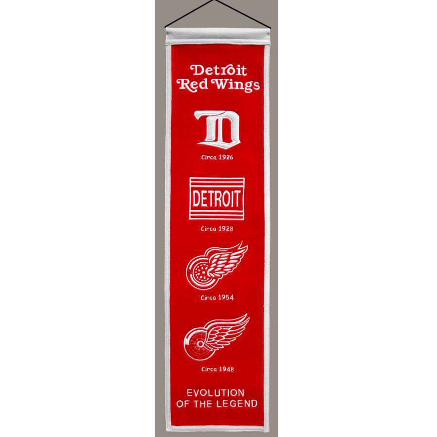 Winning Streak 0.66-ft W x 2.66-ft H Embroidered Detroit Red Wings Banner