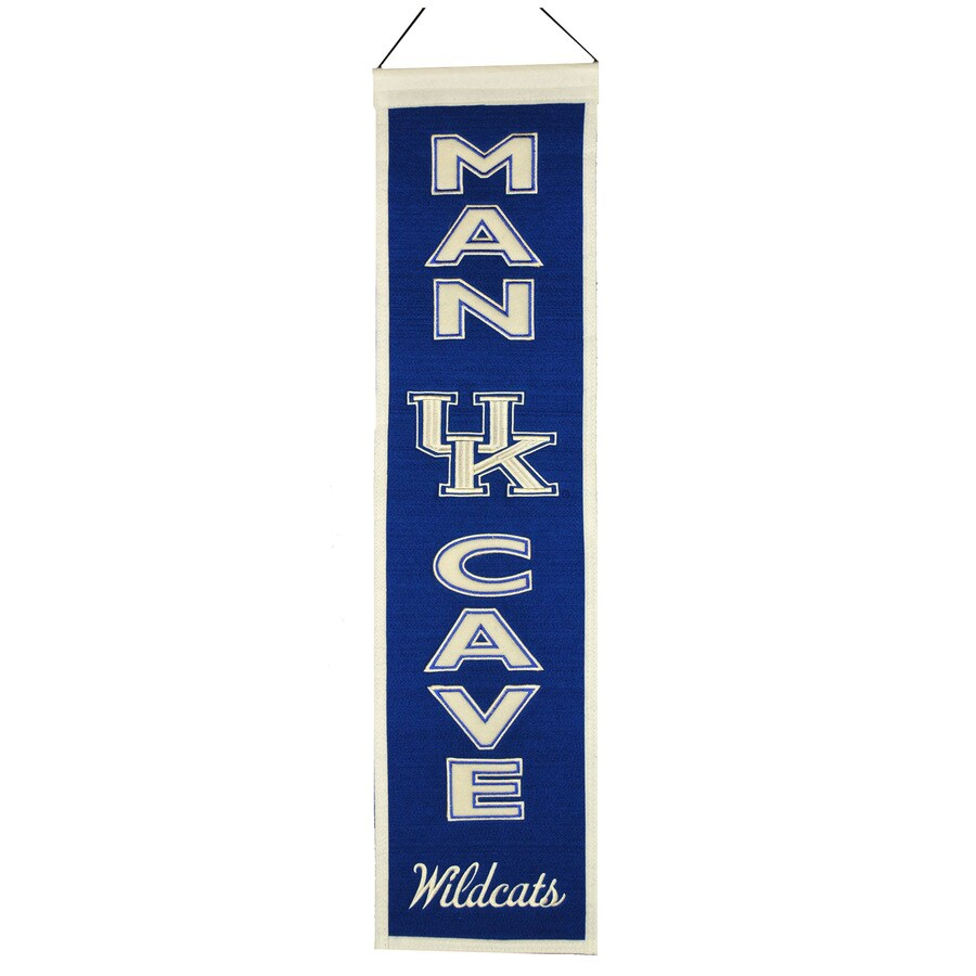 Winning Streak 0.66-ft W x 2.66-ft H Collegiate Embroidered University of Kentucky Wildcats Banner