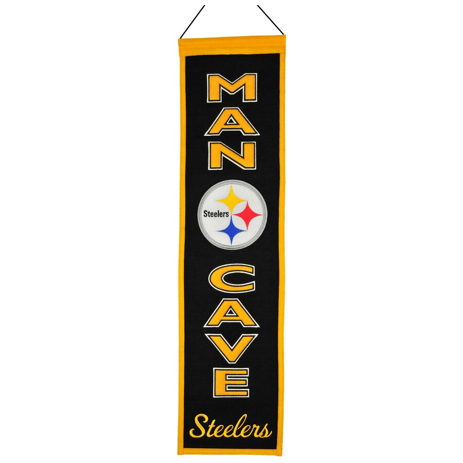 Winning Streak 0.66-ft W x 2.66-ft H Embroidered Pittsburgh Steelers Banner