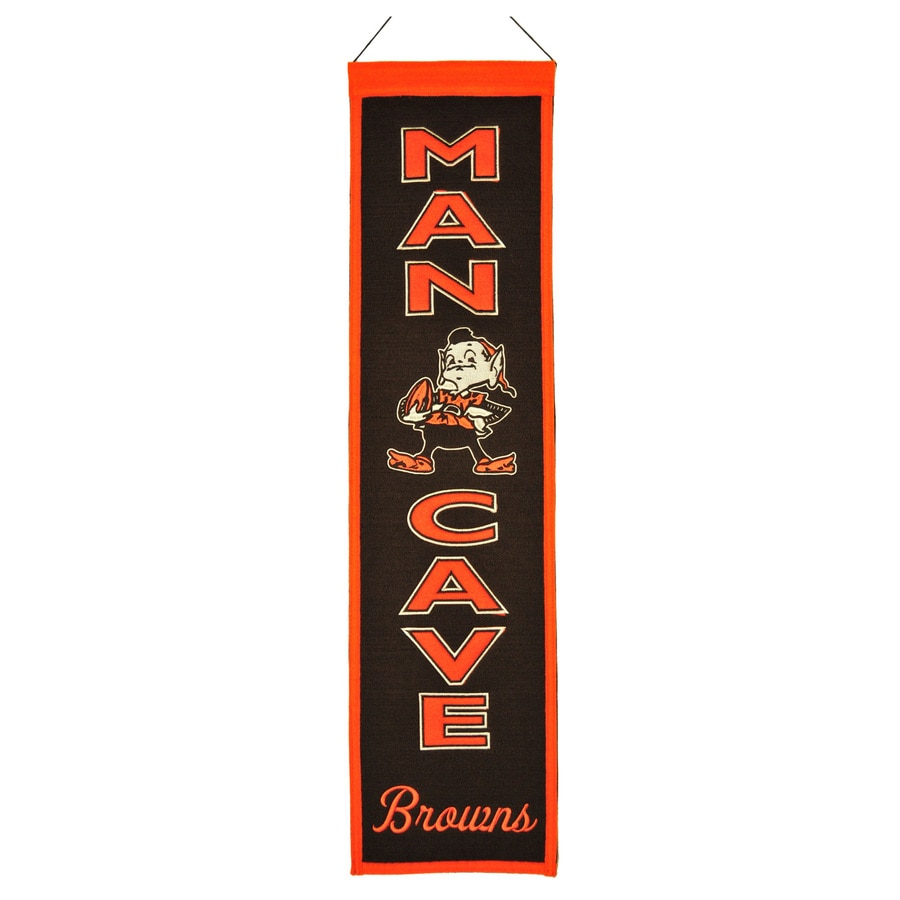 Winning Streak 0.66-ft W x 2.66-ft H Embroidered Cleveland Browns Banner