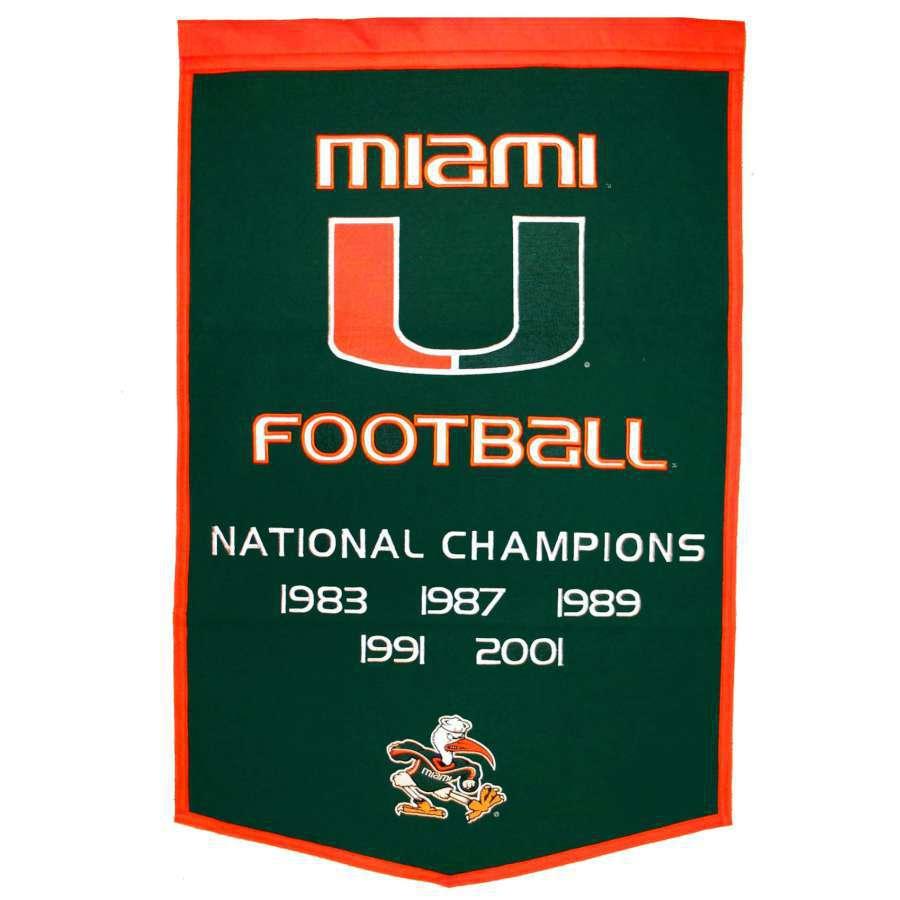 Winning Streak 38-in x 24-in Miami Hurricanes Banner