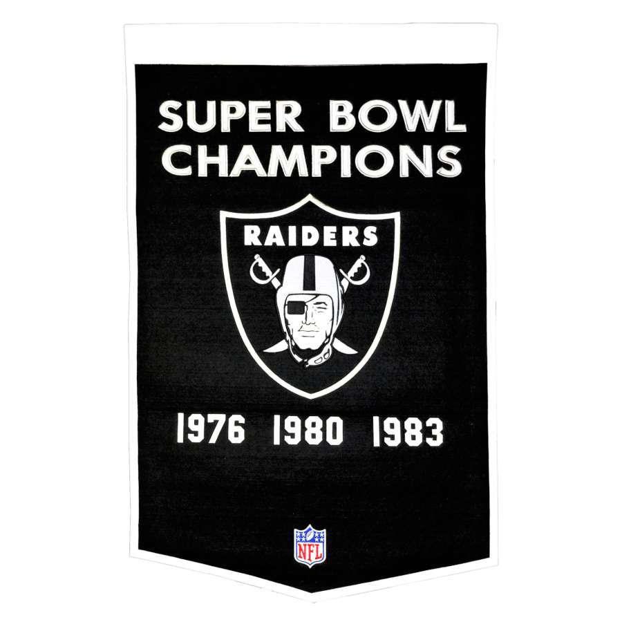 Winning Streak 38-in x 24-in Oakland Raiders Banner