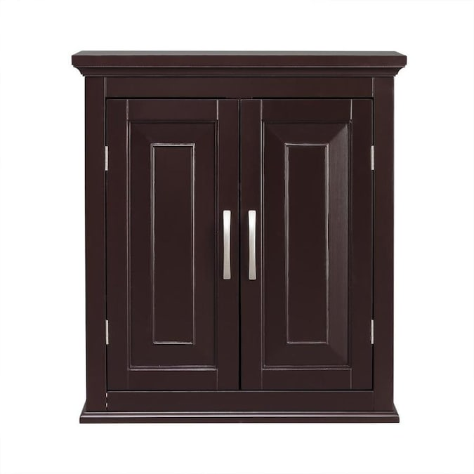 Elegant Home Fashions Alfa Double Door Wall Cabinet In The Bathroom Wall Cabinets Department At