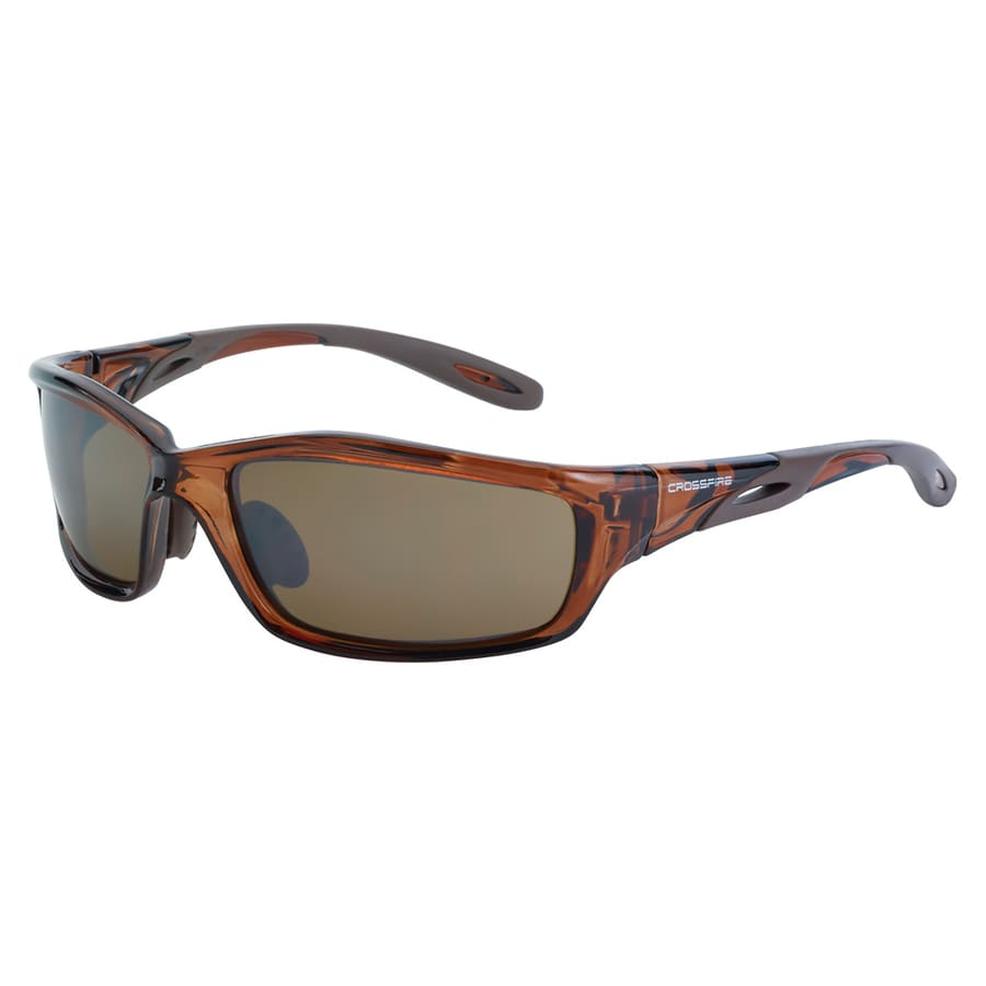 CrossFire Safety Glass Crystal Brown Frame, HD Brown Flash Mirror Lens