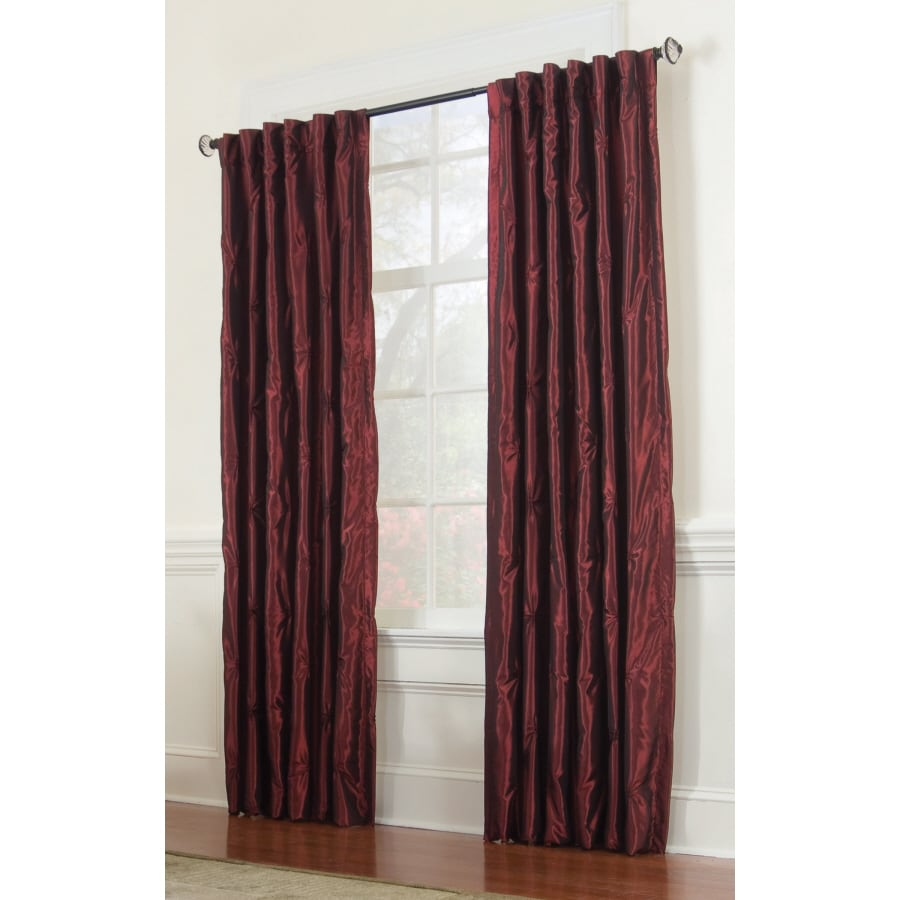 allen + roth Belleville 84-in Wine Polyester Back Tab Room Darkening Single Curtain Panel