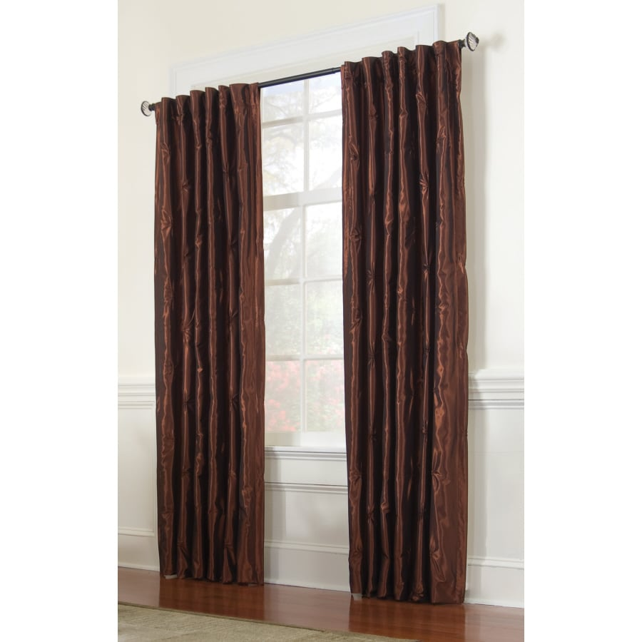 allen + roth Belleville 84-in L Solid Spice Thermal Back Tab Curtain Panel
