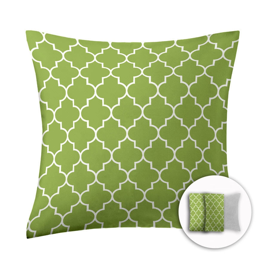 Style Selections 16-in W x 16-in L Citron Square Indoor Decorative Pillow