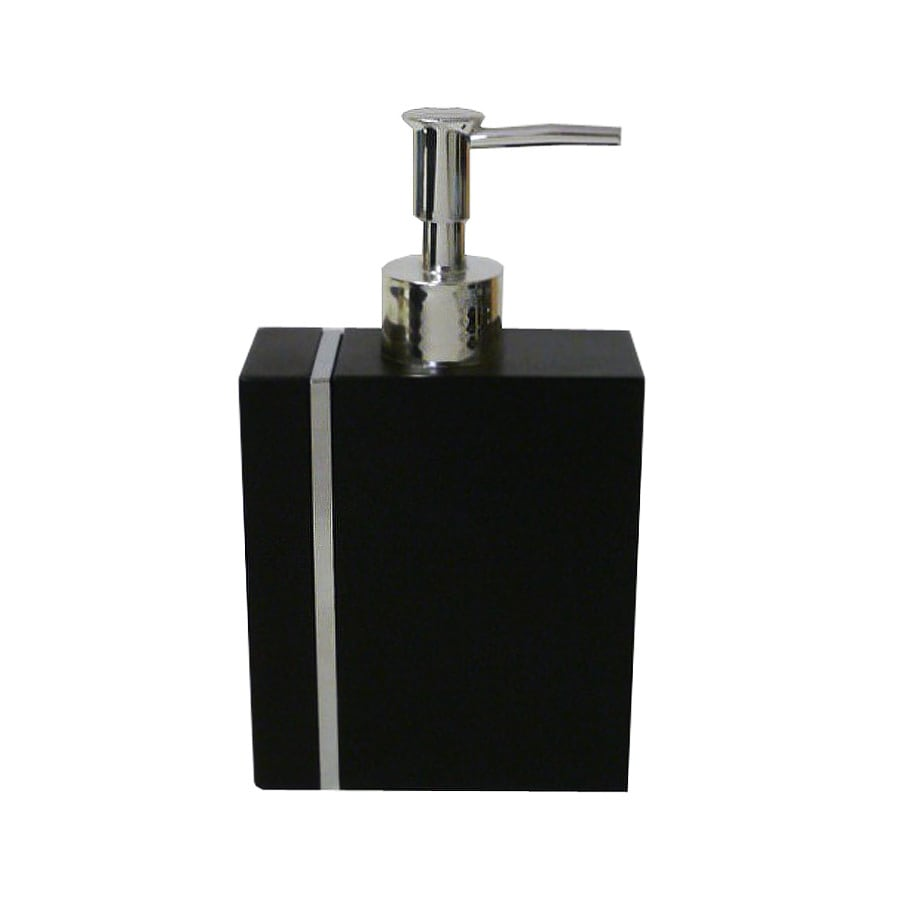 Style Selections Black with Chrome Line Metal Insert Soap/Lotion Dispenser