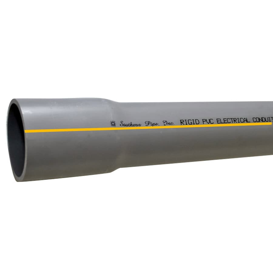 Southern Pipe PVC 10-ft Conduit (Common: 1-1/4-in; Actual: 1.66-in)