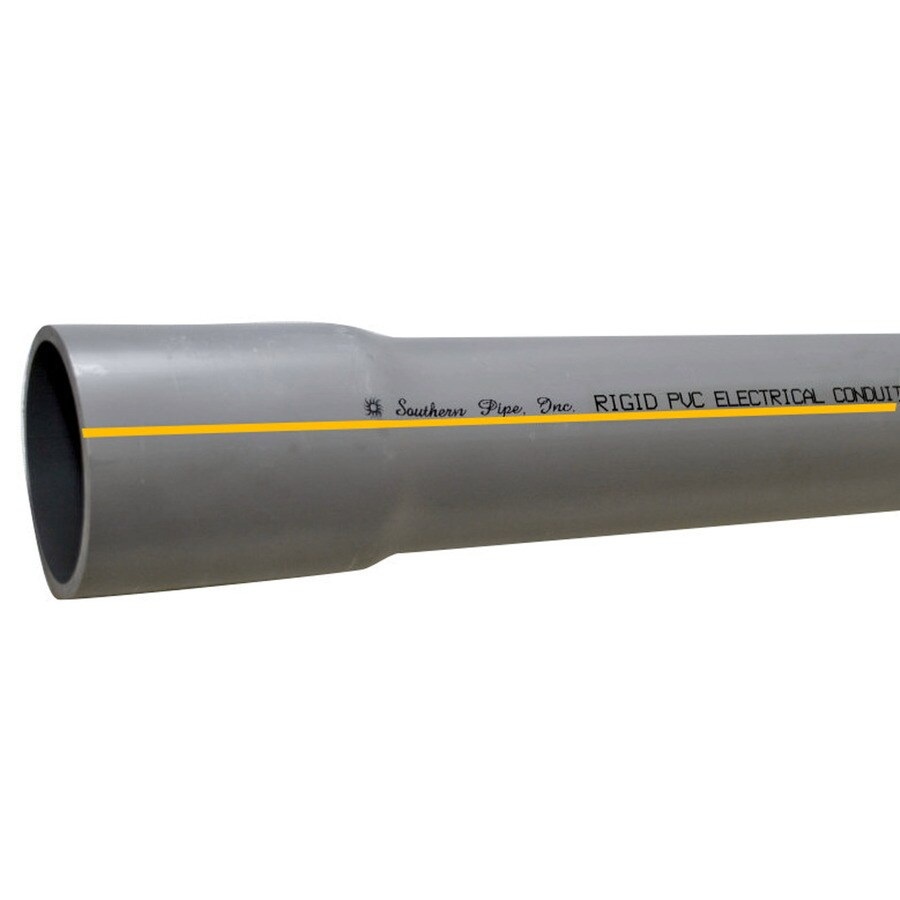 Southern Pipe PVC 10-ft Conduit (Common: 2-1/2-in; Actual: 2.87-in)