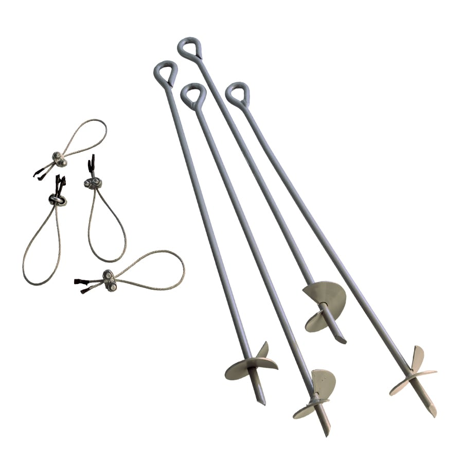 Shop Shelterlogic Gray Steel Storage Shed Anchor Kit At
