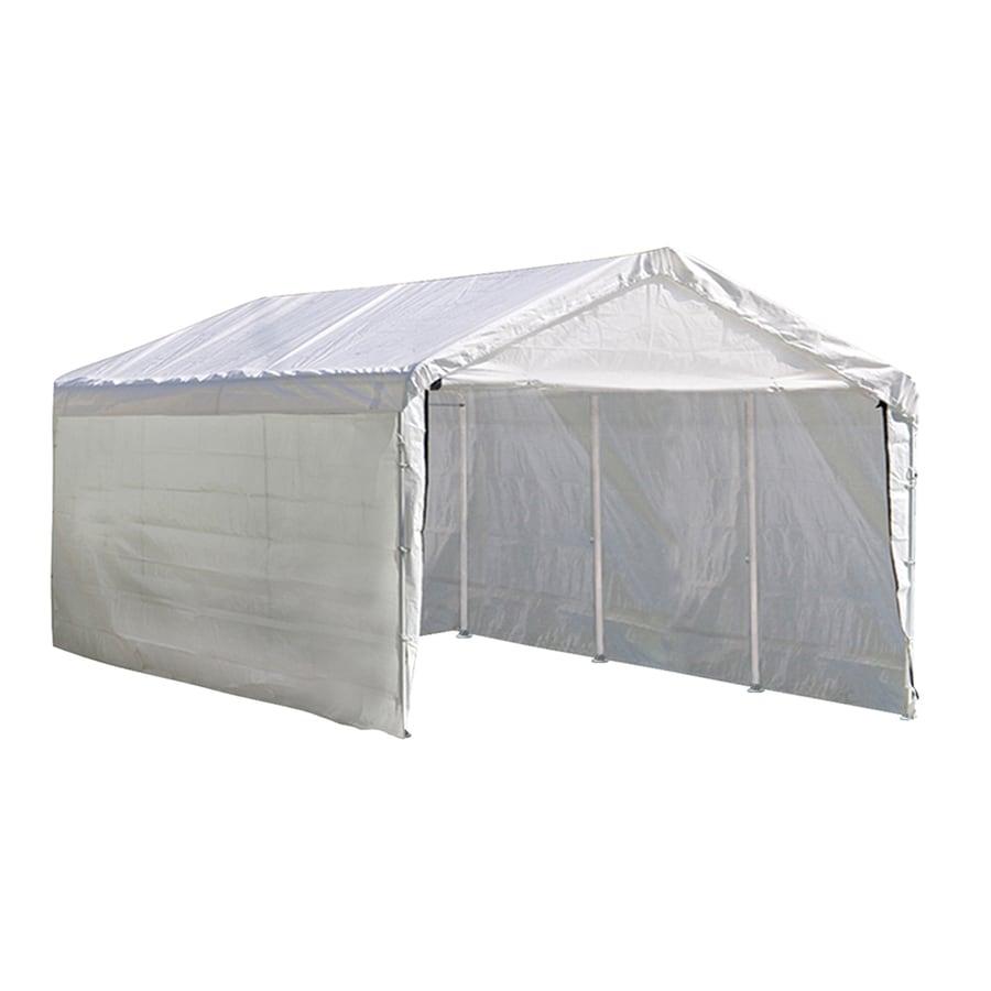Storage Shelter Frame : Shop shelterlogic ft polyethylene canopy