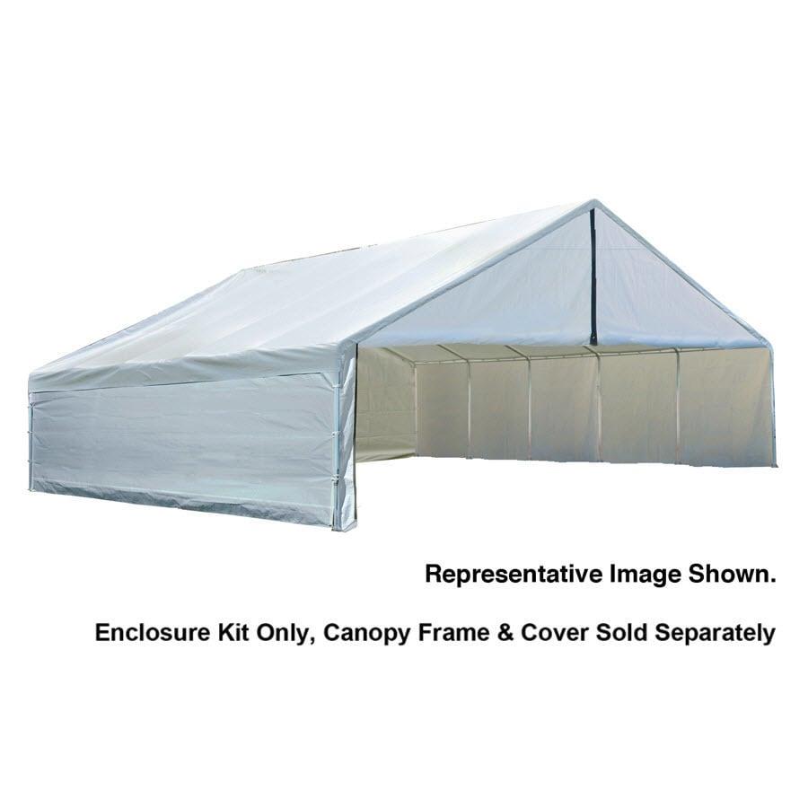 ShelterLogic White Polyethylene Storage Shed Enclosure Kit