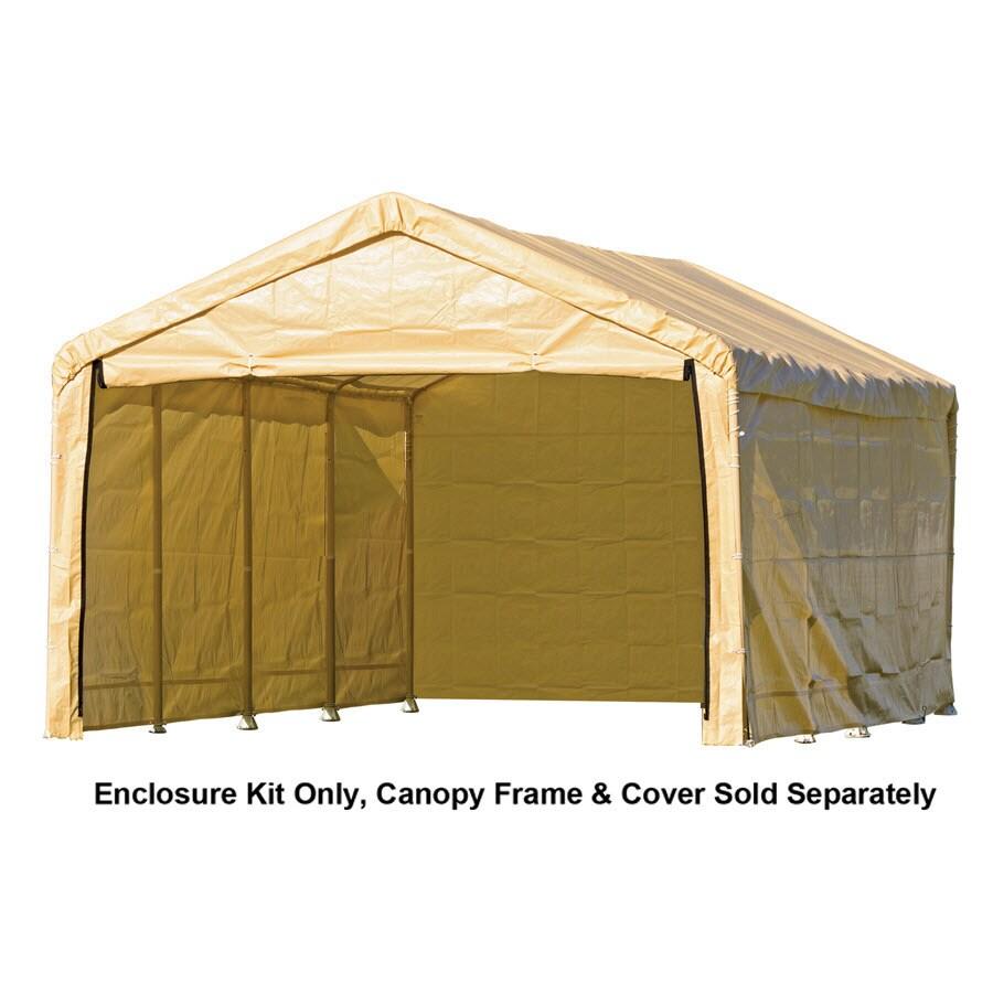 ShelterLogic Tan Polyethylene Storage Shed Enclosure Kit