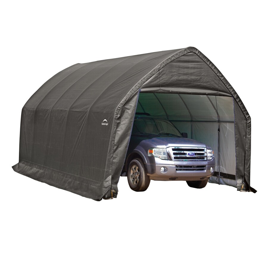 ShelterLogic 13-ft x 20-ft Polyethylene Canopy Storage Shelter