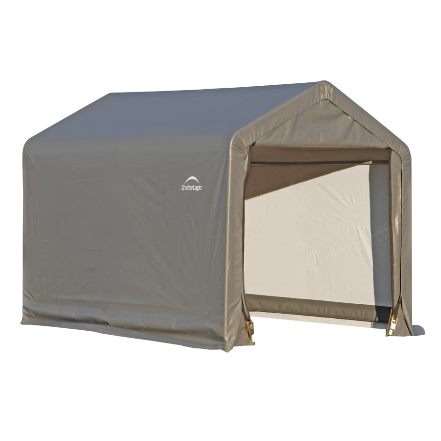 Shop shelterlogic 6 ft x 6 ft polyethylene canopy storage for Storage huts for garden