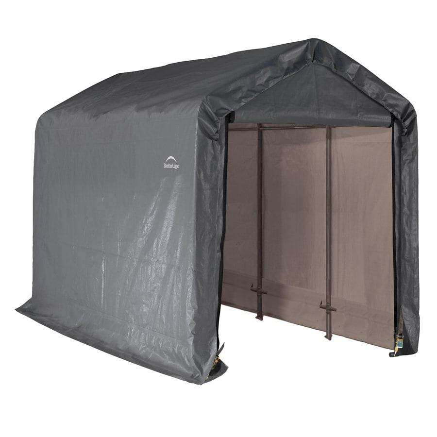 Shop shelterlogic 6 ft x 12 ft polyethylene canopy storage for Outdoor storage shelter