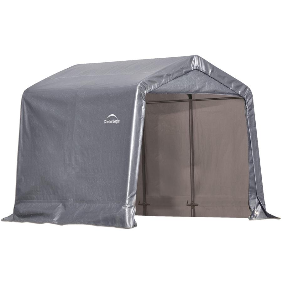 ShelterLogic 8-ft x 8-ft Polyethylene Canopy Storage Shelter