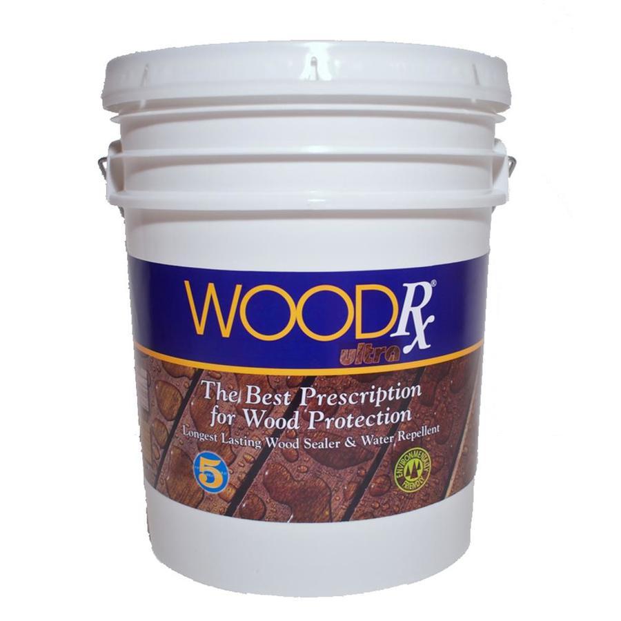 WoodRx Pre-Tinted Teak Semi-Transparent Exterior Stain (Actual Net Contents: 640-fl oz)
