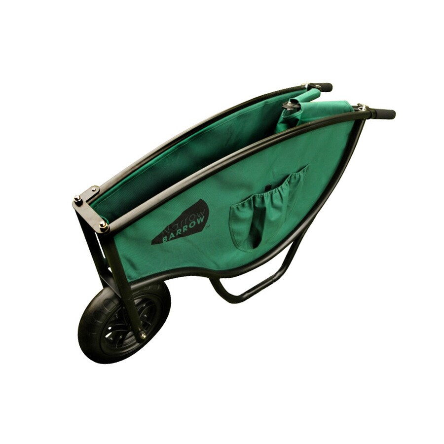 Narrow Barrow Green 5-cu ft Lightweight Folding Wheelbarrow