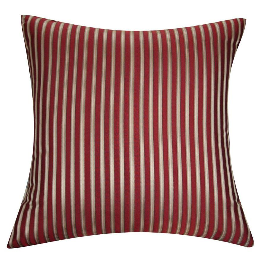 allen + roth 18-in W x 18-in L Red/Gold Square Indoor Decorative Pillow Cover