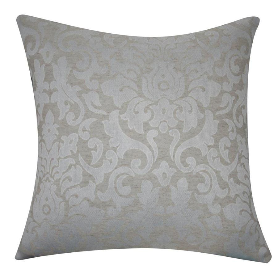 Decorative Pillow Covers Lowes : Shop allen + roth 18-in W x 18-in L Linen Ivory Square Indoor Decorative Pillow Cover at Lowes.com