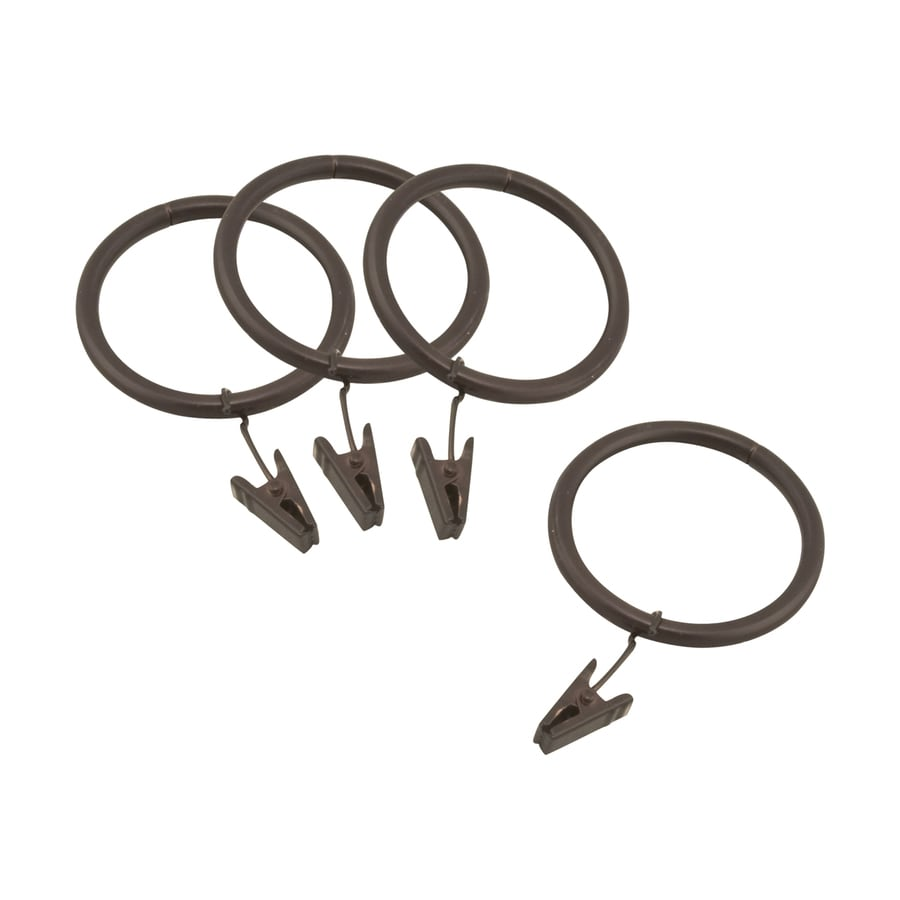 allen + roth Allen+Roth 10-Pack 1.75-in Sienna-Bronze Steel Curtain Rings