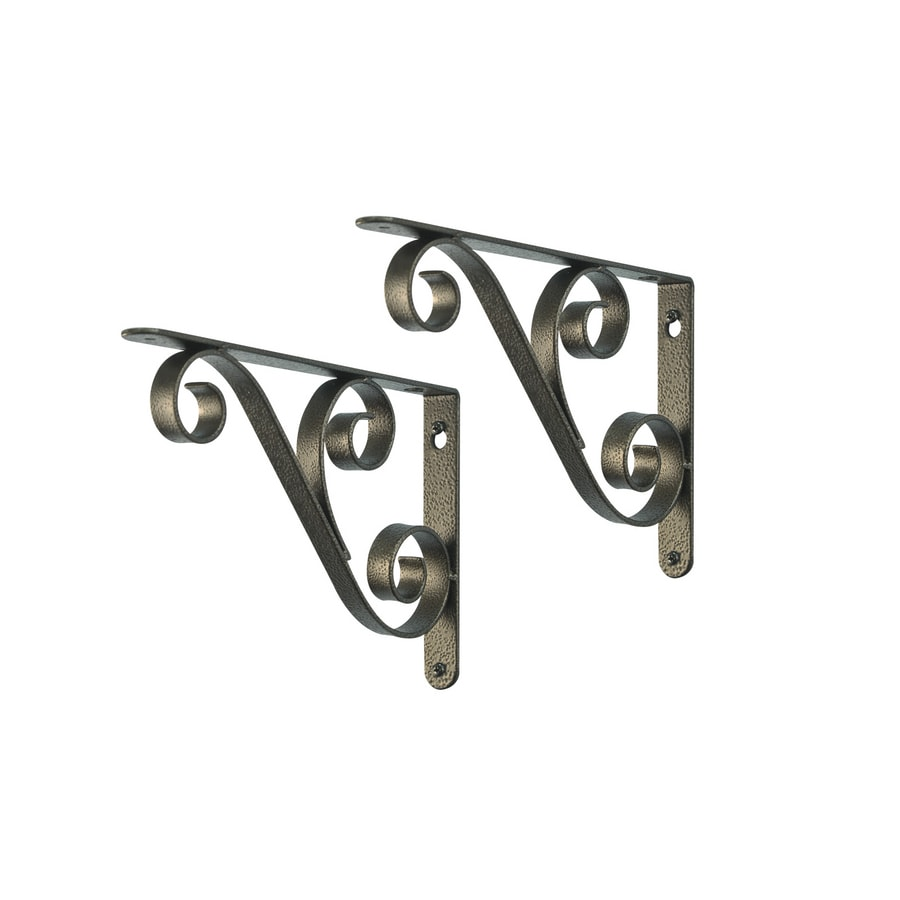 Style Selections 9-in x 6-1/2-in Bronze Decorative Shelf Bracket