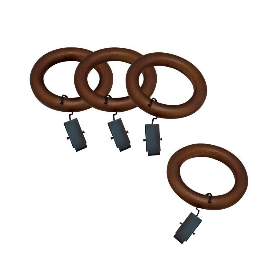 allen + roth 7-Pack Mahogany Wood Curtain Rings