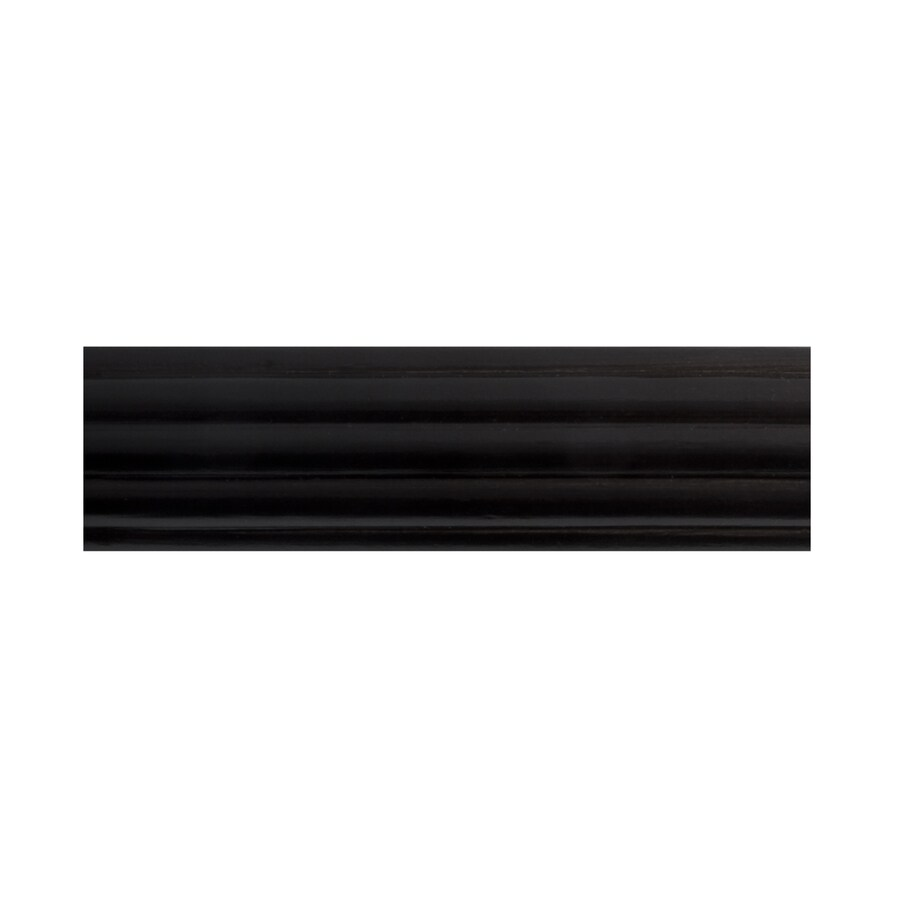 allen + roth Mink Wood Single Curtain Rod