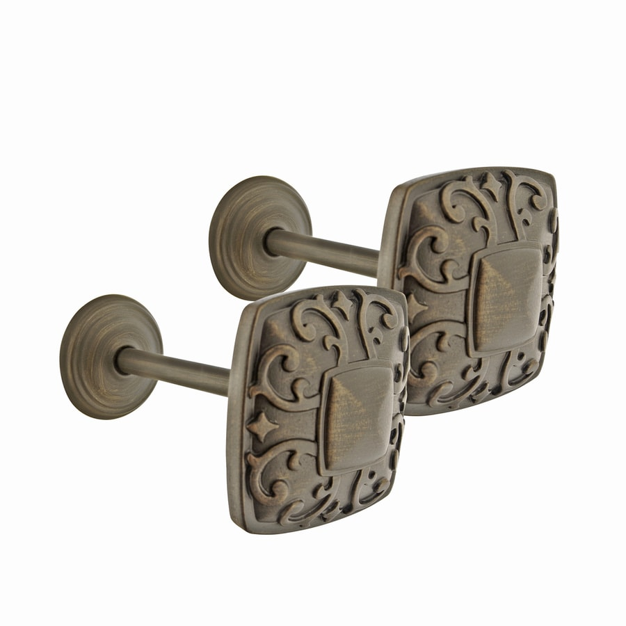 allen + roth 2-Pack Aged-Bronze Plastic Curtain Holdbacks