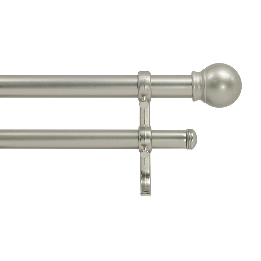 Style Selections 28-in to 48-in Nickel Double Curtain Rod