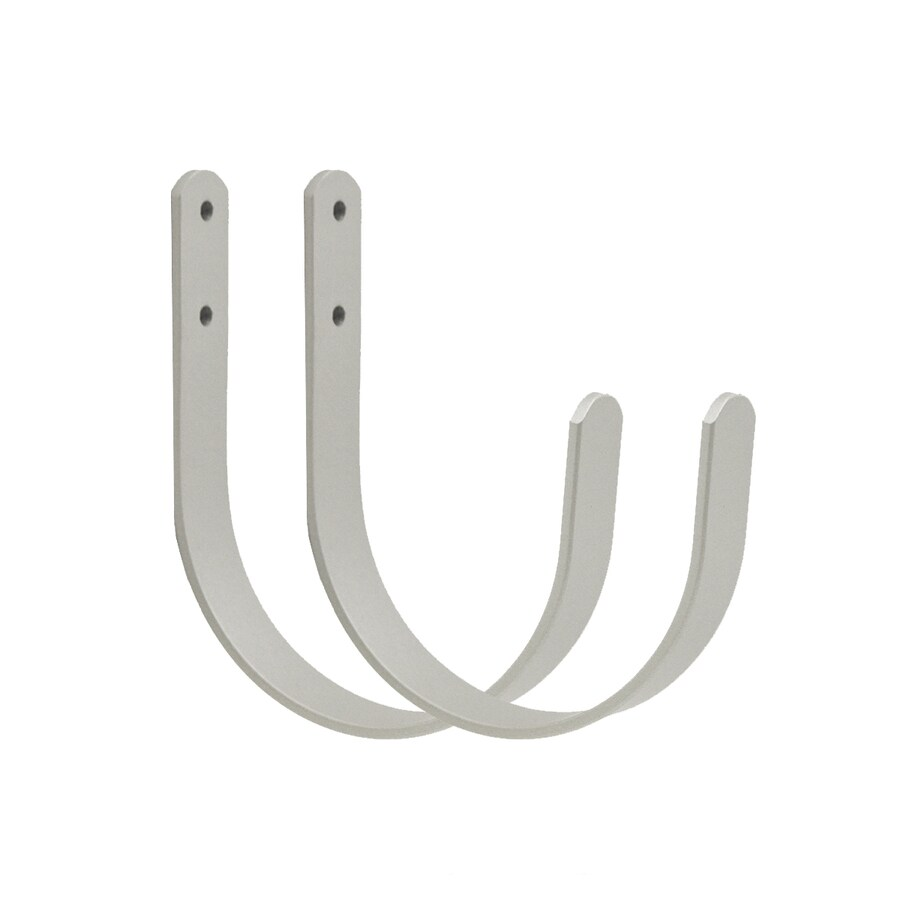 Style Selections 2-Pack Nickel Stainless Steel Curtain Holdbacks