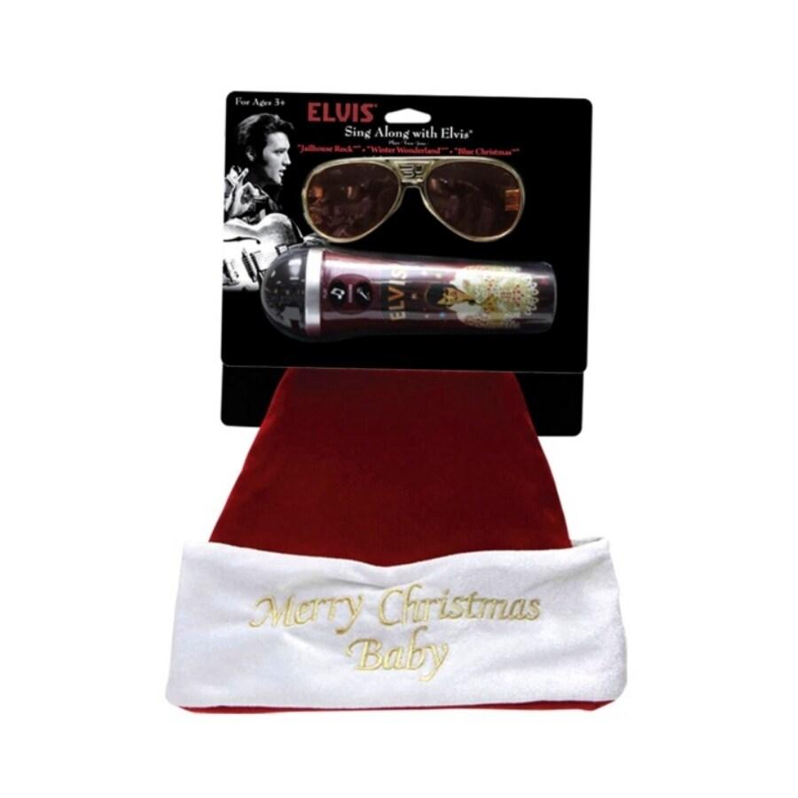 ELVIS Musical Christmas Plush Santa Hat