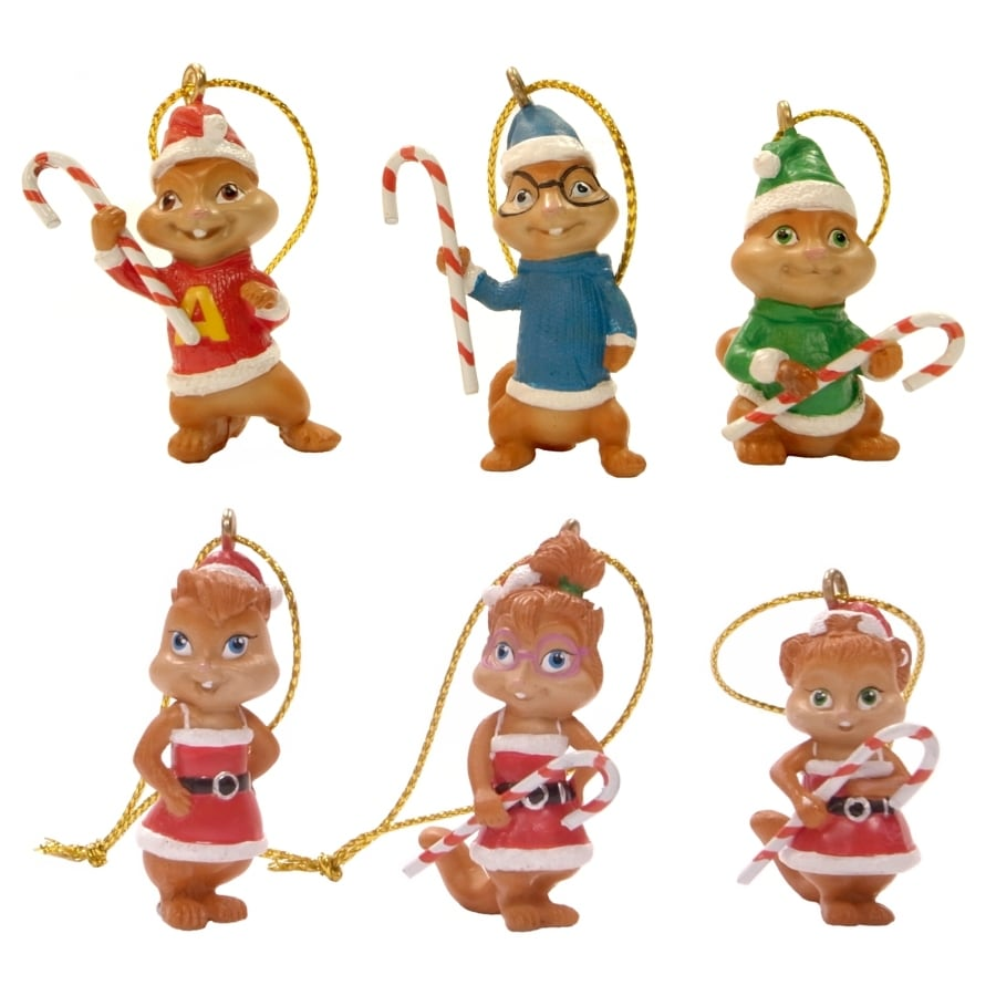 Alvin and The Chipmunks 6-Pack Multicolored Mini Ornament Set