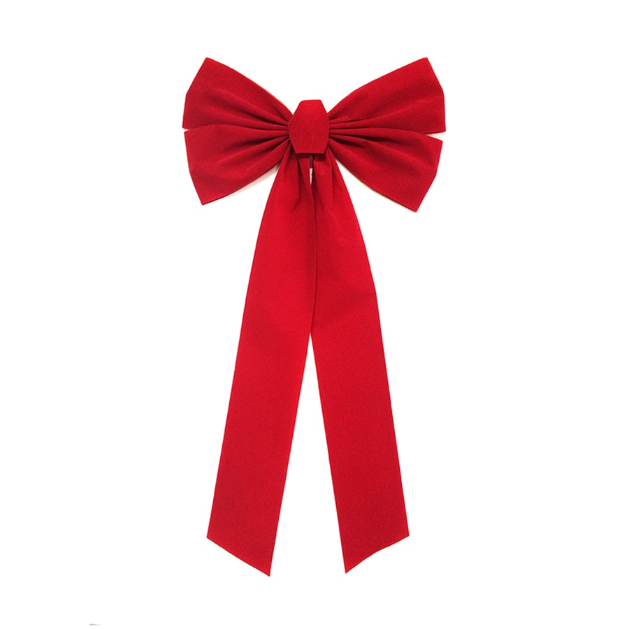 Holiday Living 16-in W Red Solid Bow