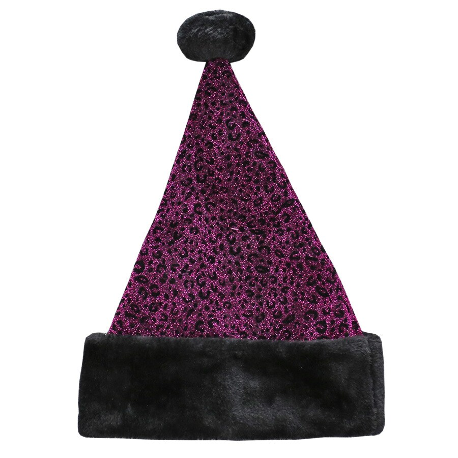 Holiday Living One Size Fits All Metallic Velvet Traditional Santa Hat