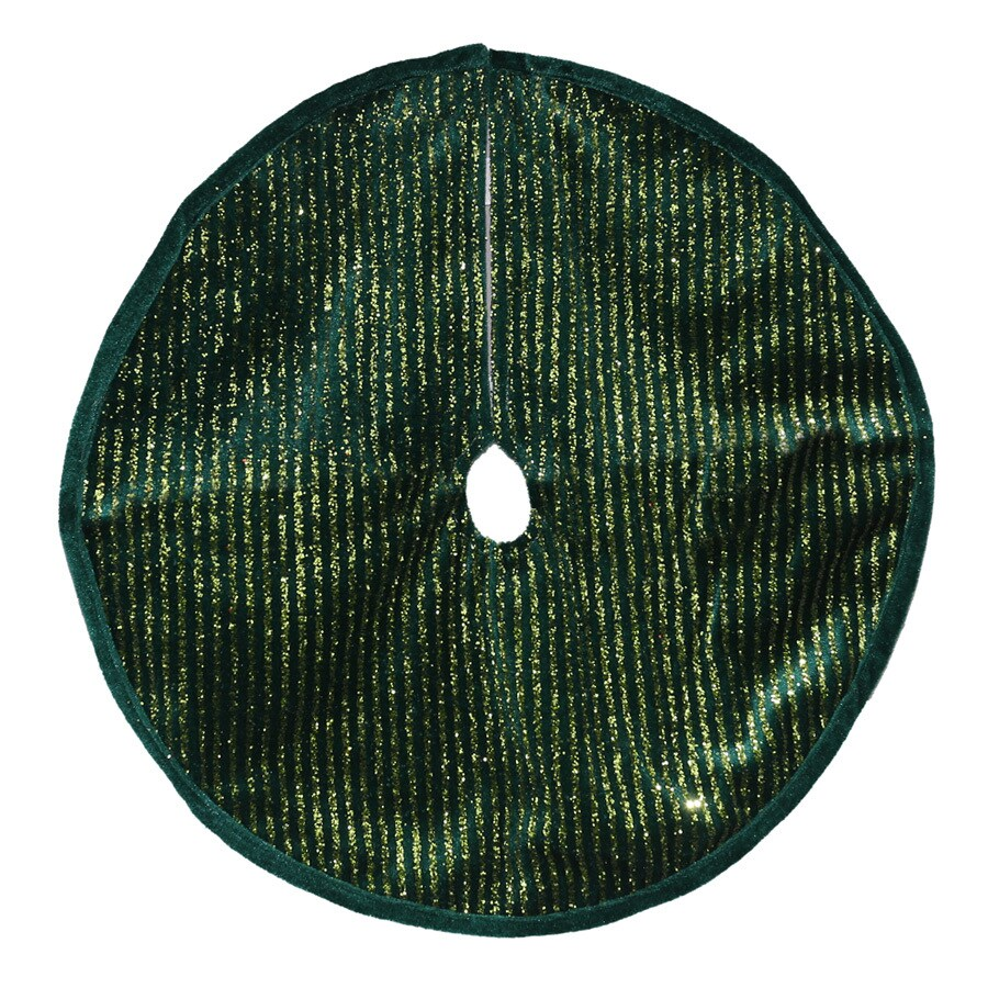 Holiday Living 18-in Green Polyester Traditional Christmas Tree Skirt