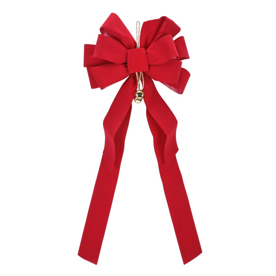 Holiday Living 8-in W Red Solid Bow