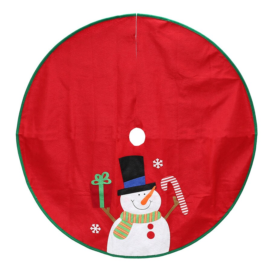 Holiday Living 40-in Red Polyester Traditional Christmas Tree Skirt