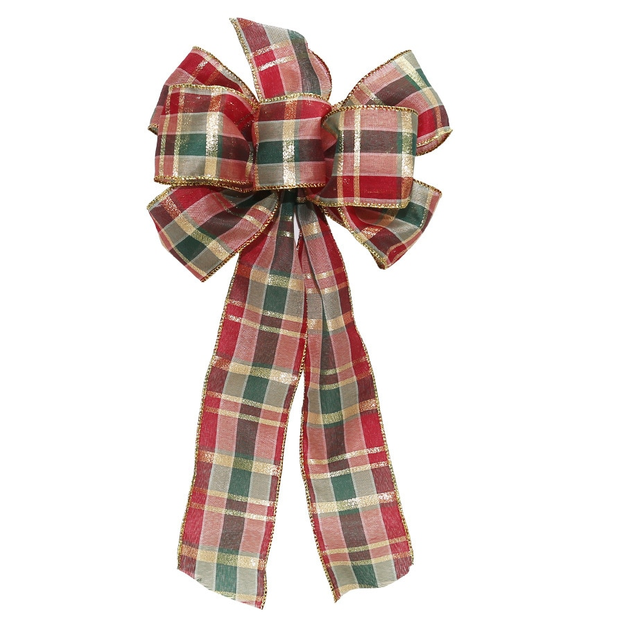 Holiday Living 8-in W Multiple Colors Solid Bow
