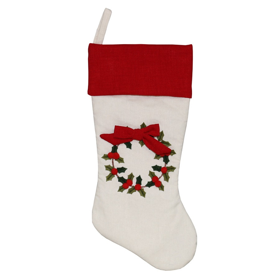 Holiday Living 20-in Red Traditional Christmas Stocking