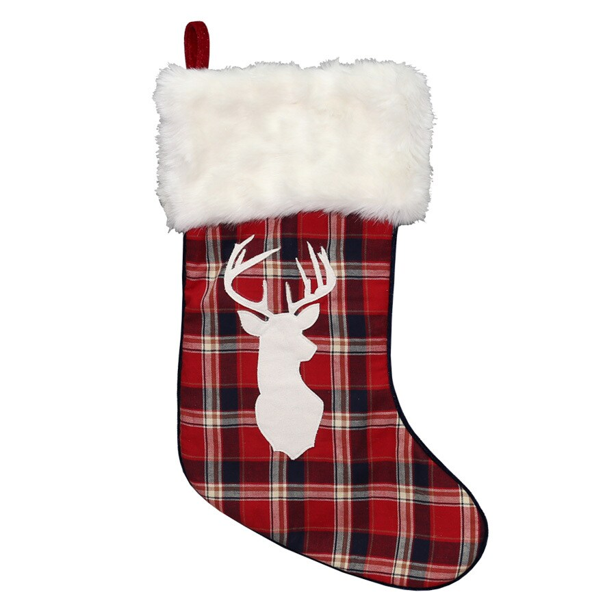 Holiday Living 20-in Traditional Christmas Stocking