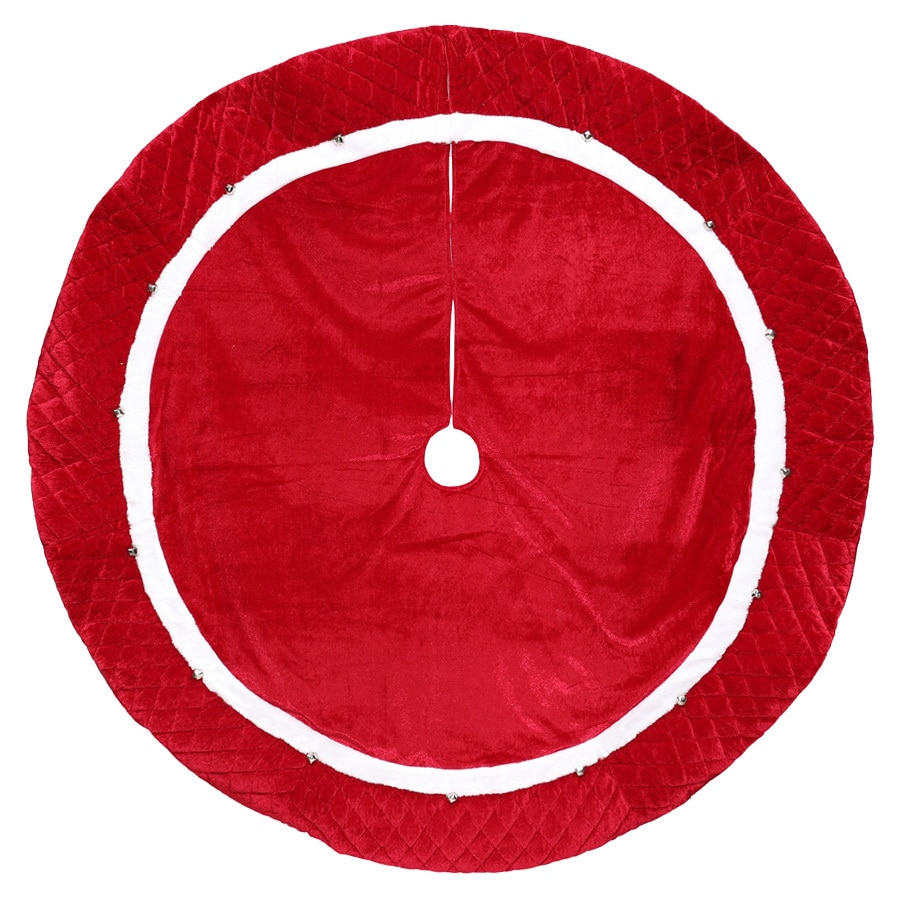 Holiday Living 48-in Red Polyester Traditional Christmas Tree Skirt